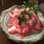町屋 清水庵 - 東伯牛餅しゃぶの東伯牛肉。