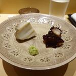 鮨 さいとう - 煮アワビと煮蛸