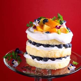 NY発祥・ネイキッドケーキが全コースに+1,000円で!