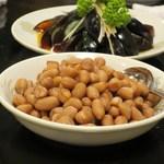 台湾客家料理 新竹 - 塩茹でピーナッツ