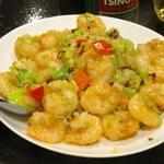 台湾客家料理 新竹 - 海老の炒め