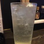 のみや - 生レモンサワー(380円)