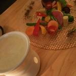 路地裏のShiki - 孫野菜のバーニャカウダ 1200円