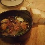 路地裏のShiki - 赤貝と夏野菜のアヒージョ (パン付き)780円