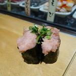 魚がし日本一 - ねぎとろ納豆軍艦