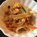 川菜味 - 小鉢(野菜と玉子の炒め物)