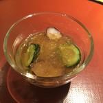 89139935 - 水ダコと蓴菜と胡瓜の酢の物