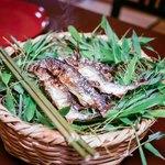美山荘 - ☆鮎の塩焼き