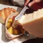 オマール海老&ラクレットチーズ オマール - ほくほくじゃが芋とパンチェッタのラクレット バケット付
