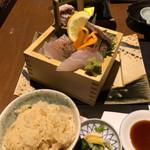 washokuizakayashummon - 刺身定食左半分