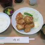 割烹 嶋村 - 若鳥ひとくち揚げ (皿)