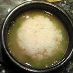 ほっぺ屋 - 半サムゲタン 1000円 の雑炊