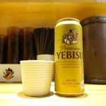 中華そば 満鶏軒 - ビールはエビス缶