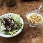 ピッコロ JR新大阪駅店 - Bセットのサラダとヨーグルト