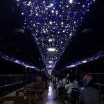 列車レストラン・清流 - トンネルで車内ライトアップ