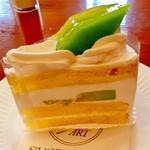 シュークルダール - 鳥取県よりお取寄せメロンのメロンショートケーキ 570円