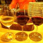 vegebar Caiotto - 選択した三種のグラスワイン