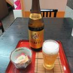 長寿庵 蕎匠 - ビール・お通し