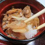 長寿庵 蕎匠 - アサリはふっくら