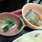 長寿庵 蕎匠 - 香の物・小鉢