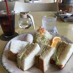 sandwich cafe うみねこ - タマゴサンドのモーニングをいただきました(2018.7.13)