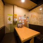とれたて北海道 - 2名から4名までご利用可能のテーブル席です。
