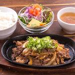 肉と野菜のスタミナランチ