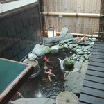89162769 - 鯉が泳ぐ風情があるコンパクトな庭園