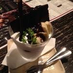 牛串とらまめともつ鍋こ豆 - ザッハトルテバナナパフェ 560円
