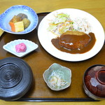 ふじ乃や 季心堂 - ハンバーグ定食