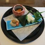 大志満 椿壽 - 30年7月 前菜4種(天ぷらコース)