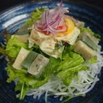 おり座 - 京なまふと湯葉の大根サラダ