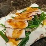 肉料理 肉の寿司 okitaya - ピリ辛よだれ鶏(500円)