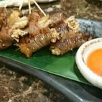 肉料理 肉の寿司 okitaya - SUKIYAKI串(380円)