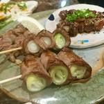 肉料理 肉の寿司 okitaya - 焼き鳥5本おまかせ盛り(800円)