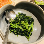 中國料理 克弥屋 - 空芯菜の炒め物 ちょっと炒め過ぎかな〜 味は美味しいけど歯ごたえが残ってる方が好みです