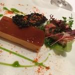 ラトラス - 赤ピーマンのムースとオマール海老のサラダ