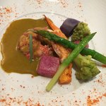 ラトラス - オマール海老のヴァプール プロヴァンサル野菜 ソース エストラゴン