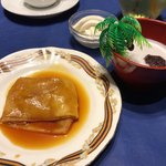 エクアトゥール - 料理写真:クレープシュゼットとココナッツミルク味のおしるこ