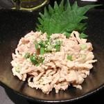 全力鶏 - 鶏皮ゆず胡椒ポン酢
