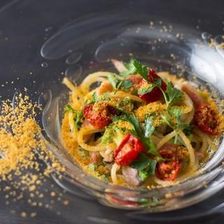 スペシャリテ、たっぷりカラスミのスパゲッティ
