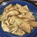 歩々 - 料理写真:鶏皮味噌にんにく炒め