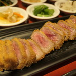 牛かつ専門店 日本橋 富士 - ポッサムチーズフォンデュ牛かつ膳