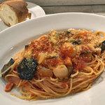 ピッツェリア イルソーレ 天サン - 本日のパスタ(ベーコンとなすのトマトソース)