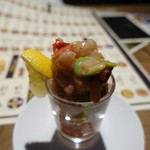 グッドスプーン - そら豆と甘エビのタルタル