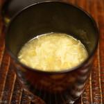 竹屋町 三多 - 茄子(なすび)とスッポンのスープ