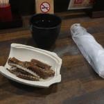 三代目魚梅 - 鰻の骨とお茶