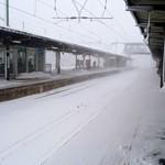 89210136 - 強風の鶴岡駅ホーム