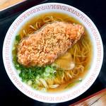 玉吉 - とんかつラーメン(ラーメン+とんかつ)