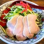 くじら食堂 - 夏期限定 冷やし中華(肉増)